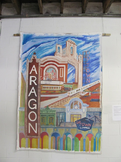 Painting of the Aragon and Uptown Lounge