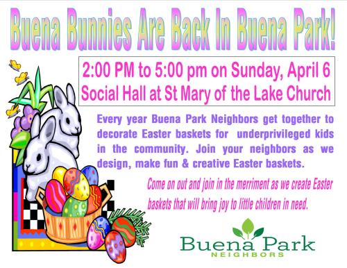 Buena Bunnies Flyer 2014